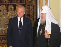 President Arnold Rüütel met with His Holiness Patriarch Alexy II of Moscow and All Russia.