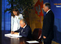 President Arnold Rüütel signed a convention on the prevention of nuclear terrorism