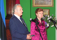President Arnold Rüütel, during his state visit, met with the President of Latvia Vaira Vike-Freiberga