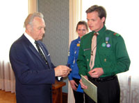 President Rüütel received a Scouts' Friend Award.