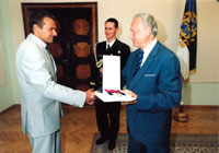 President Rüütel handed over the 1st class Order of the White Star to the two times Olympic champion Andrus Veerpalu.