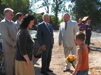President Rüütel and Mrs. Rüütel participated in the ceremony of laying Kõue Community Center's cornerstone and met with local people.